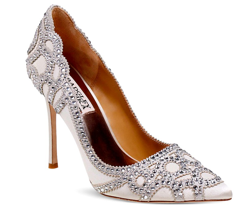 Badgley Mischka Rouge Embellished Pointed Toe Pumps