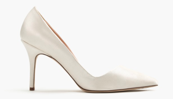 J.Crew Elsie asymmetrical pumps in satin