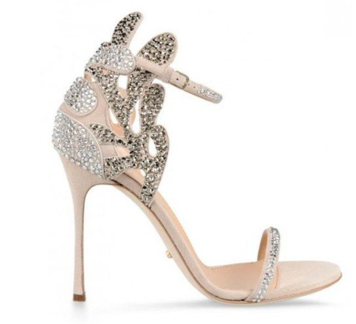 Champagne Wedding Shoes Rhinestone Stiletto