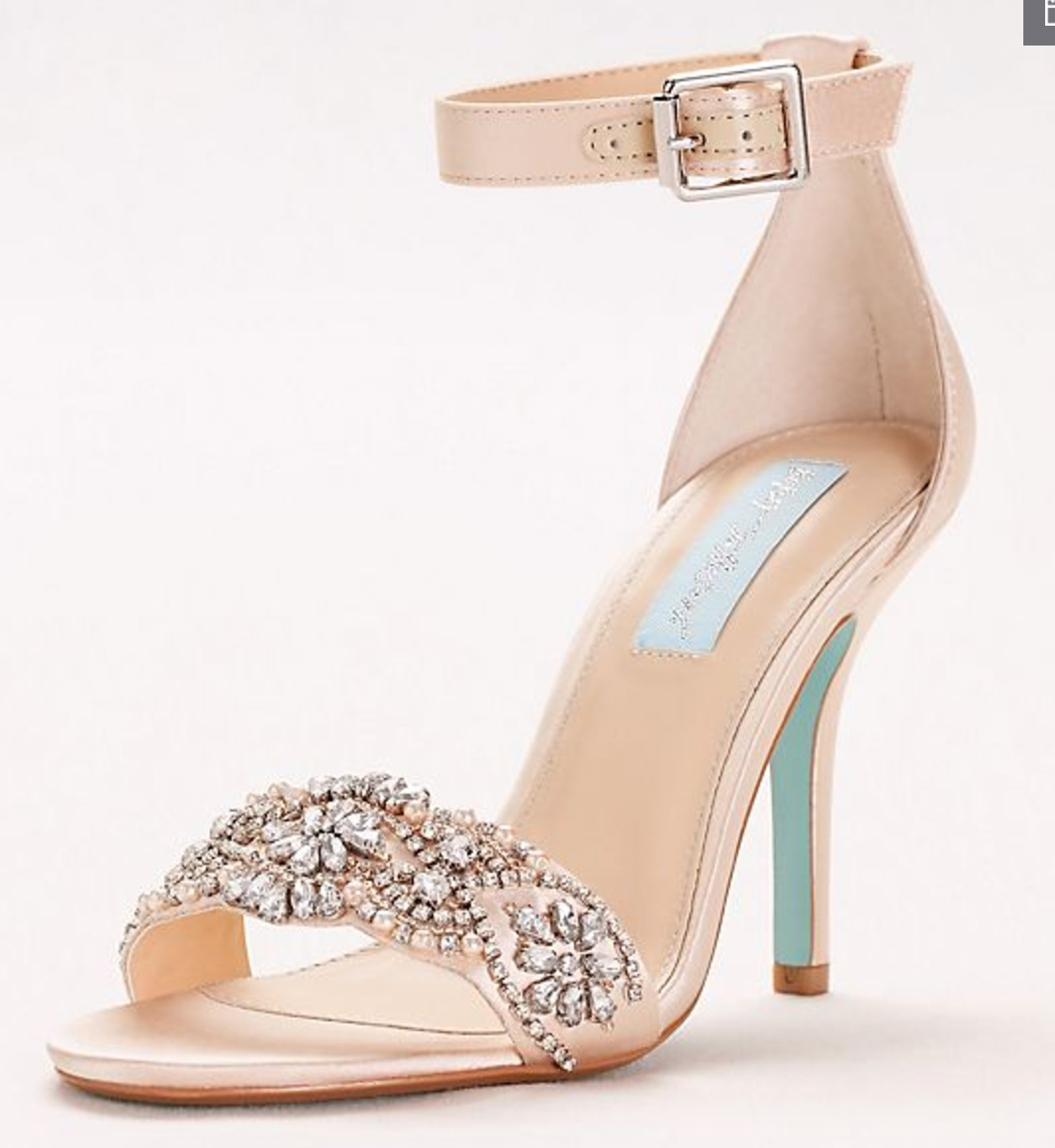 Blue by Betsey Johnson Embellished High Heel Sandals