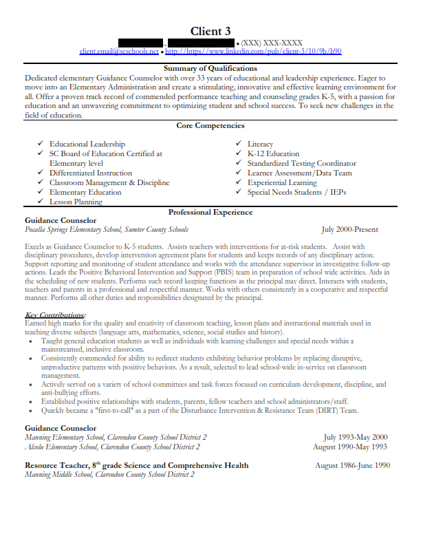 Education Final Resume