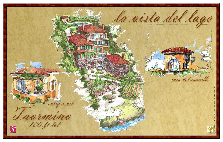 La Vista Del Lago 6 bed | 7 full 2-1/2 bath | 4 car garage 9,996 sq. ft.