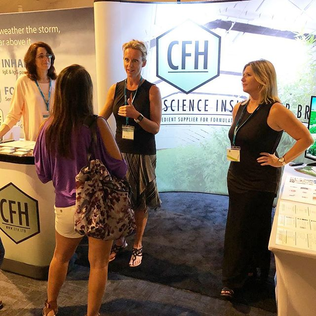 Our team enjoying sharing about CFH and our Full Spectrum Hemp Flower Oil at the AIHM Conference in San Diego. #cbd #fullspectrumcbd #cfhltd #knowyourcbdsource