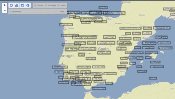 Trendsmap: captura realizada el sábado, 30 de mayo (14:07 horas).