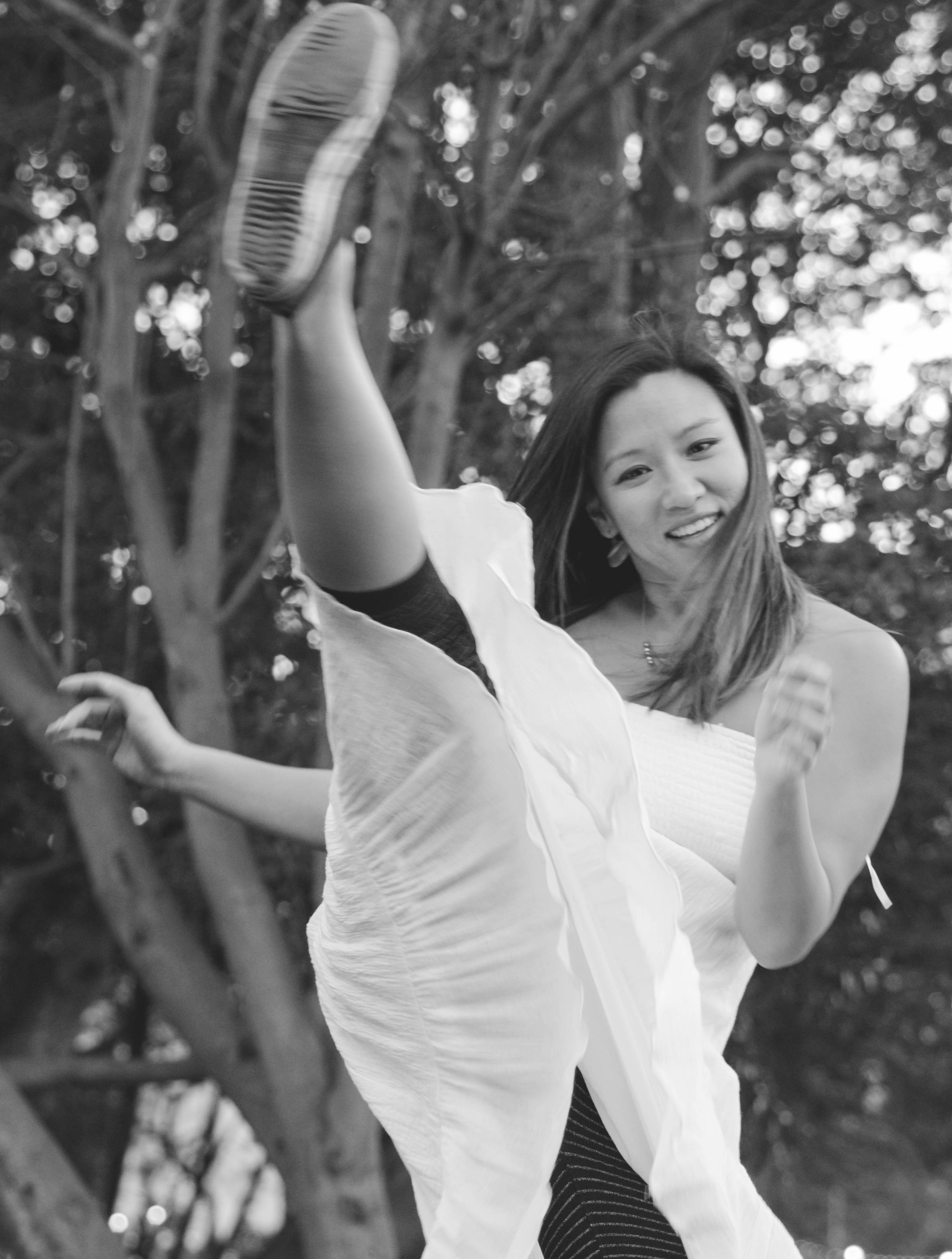 White Dress Photoshoot at Lake Merritt, Oakland by Cybil A. Fresnido-Patz