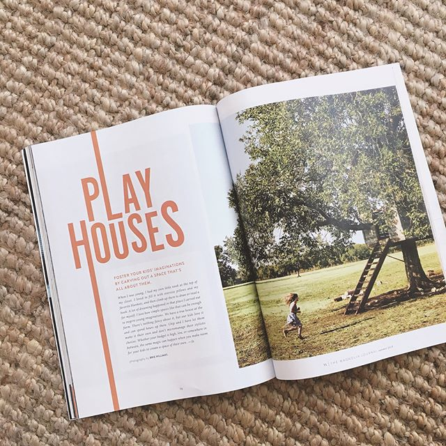 Super proud of this sweet story on playhouses that I styled in the summer issue of the Magnolia Journal. ⛺️✨🦋🎨
