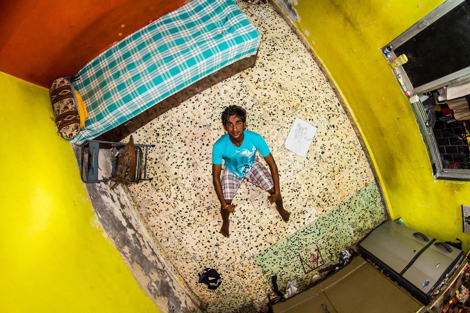 Mumbai, India: Nikesh, an 18-year-old fisherman.