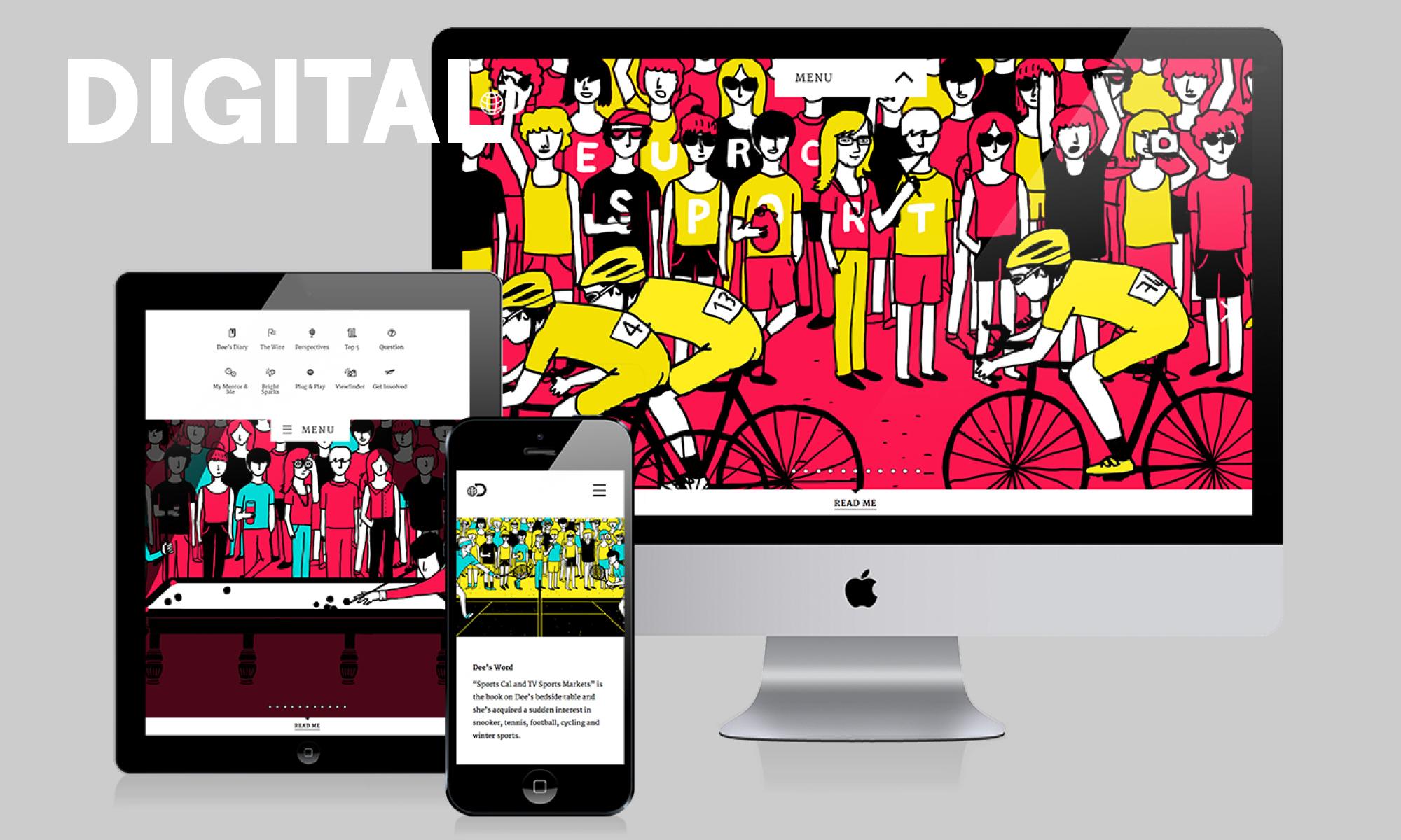 Digital design and production for brand marketing website apps