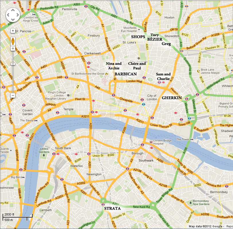 Map of Tori's London