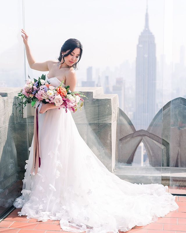 Wedding goals with @tatianiyuki 😍 at #topoftherocknyc  Photography: @fabianaskubic  Floral Design: @whisperandbrookflowerco  Invitation suite: @plumeandfete  Hair & Makeup: @brittanyannbeauty  Dress: @lyravegabridal • • #bridal #brides #mua #bridesmaids #wedding #weddingmakeup #weddingdress #weddinginspo #elopement #elopementwedding #weddinginspiration #bridal #makeup #makeupartist #philly #newyork #bethlehempa #weddingmakeup #weddingmakeupartist #photography #phillymakeupartist #lehighvalleymua #lehighvalleyweddings #potd #motd #nyc #goals #weddinggoals