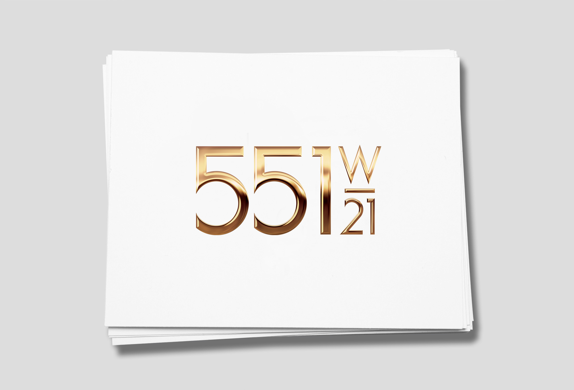 Logo for 551 West 21 residences