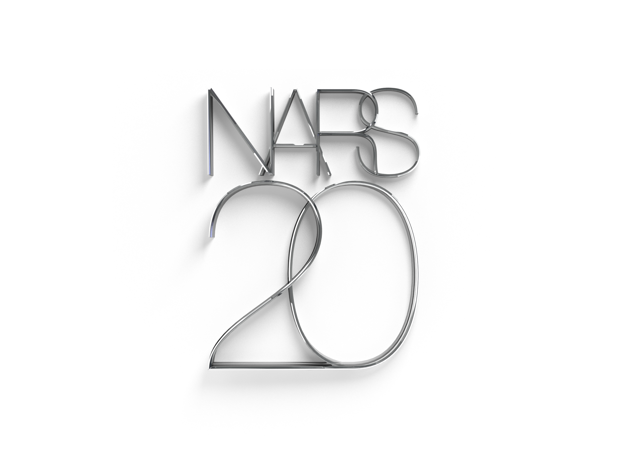 Logo for special 20th anniversary NARS lipstick.