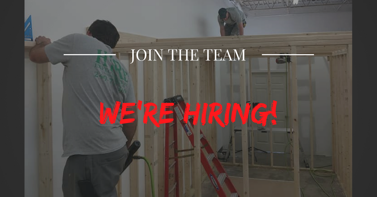 Apply Now! - We are looking for quality Lead Carpenters and Helpers.If interested, please send a resume with previous work history for consideration.