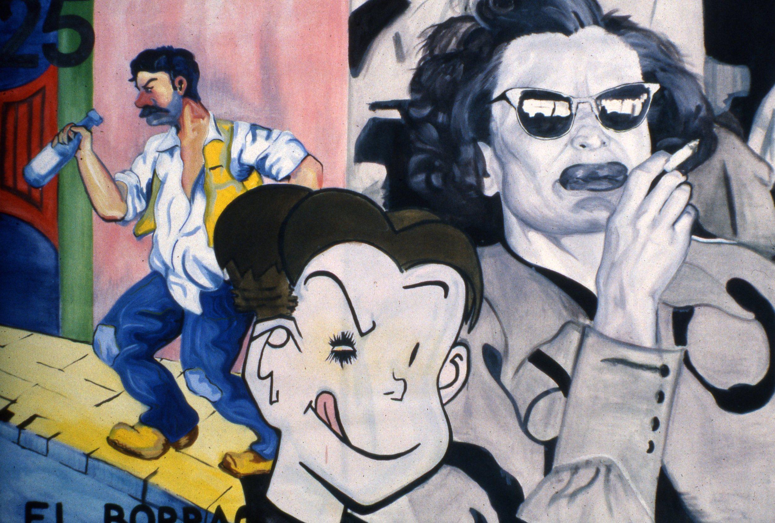 "El Borracho, oil on canvas, 32"" x 42"", 1997"