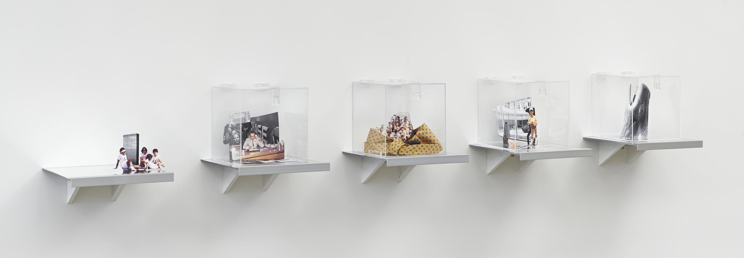 Plexiglass Boxes: Chase Manhattan Plaza: Origins I-V