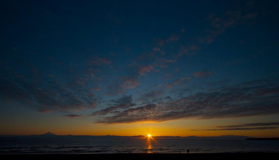 Beach sunset in Kenai, Alaska