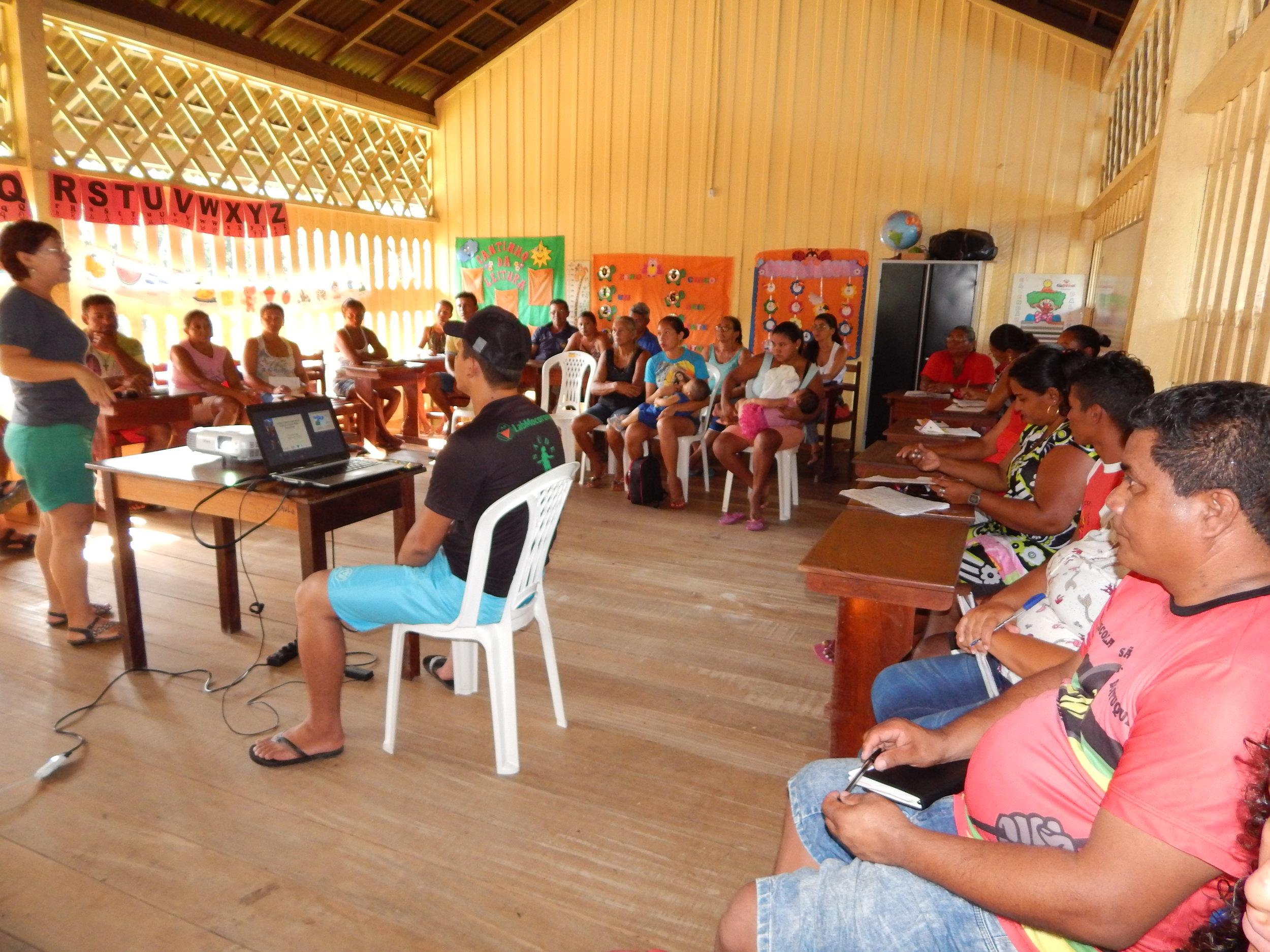 Comunidade Aracampina. Foto: Ascom/Sapopema