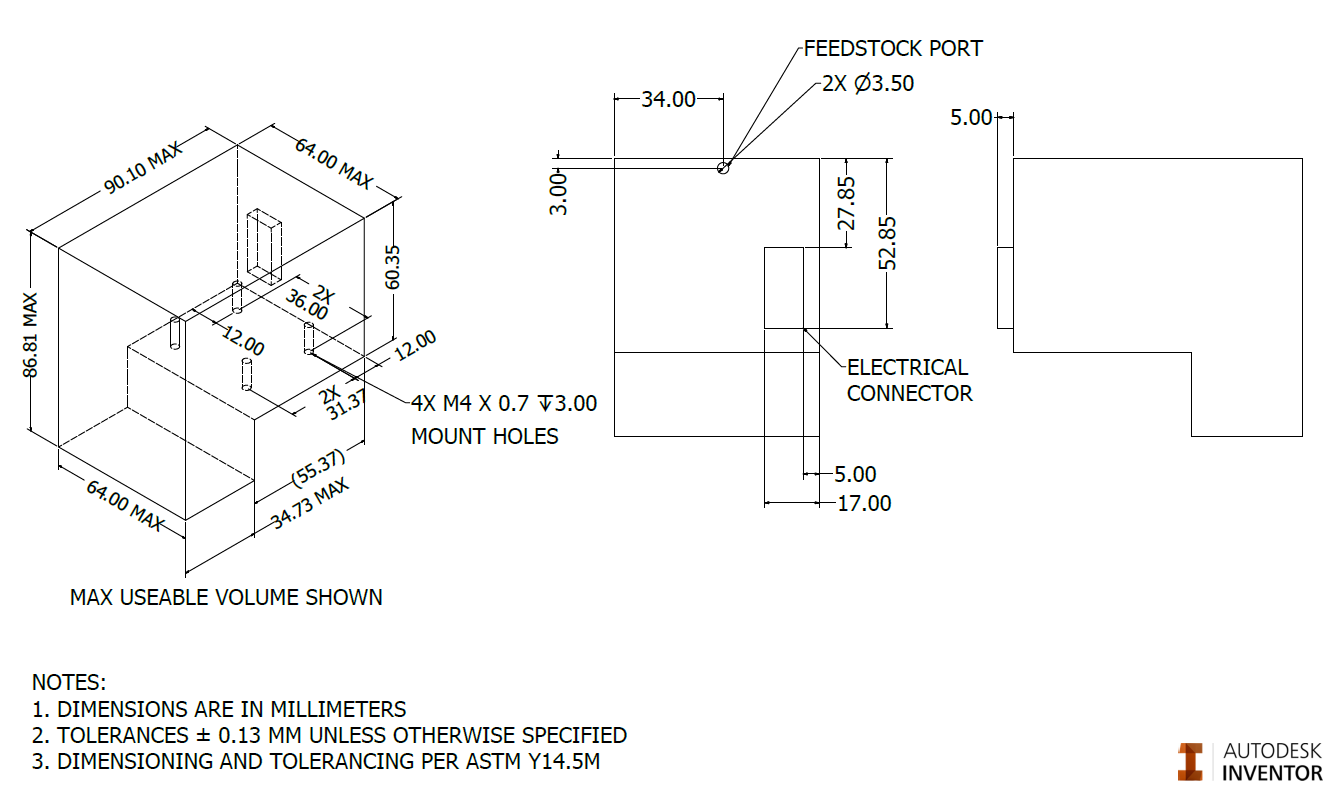 Figure 2a. Tool Head Interface Volume