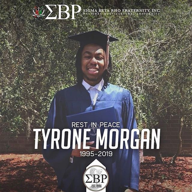 It is with a heavy heart that we share the sad news that we lost another brother recently. Tyrone Morgan, Brother Speak-EZ (Alpha Theta Chapter - University of North Florida), passed away on Monday, June 17, 2019. Please keep the Morgan family and members of the Alpha Theta Chapter in your thoughts. The brothers of Alpha Theta Chapter have created a GoFundMe in order to help the Morgan family with funeral costs, please visit their page if you wish to donate.