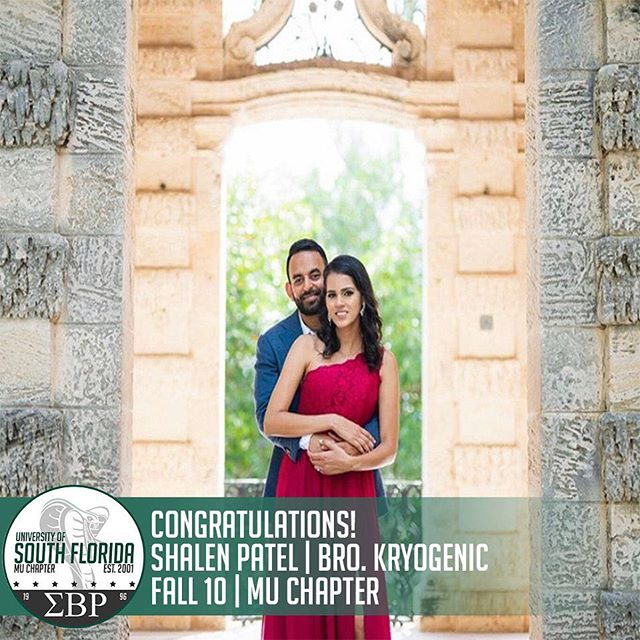 Today, we would like to congratulate our very own Mr. Shalen Patel, Brother Kryogenic of Fall '10, on getting married to his wife Bicky! The Mu Mecca Chapter would like to wish both of you good luck on beginning the next chapter of your lives together! #ΣBP #MuMecca