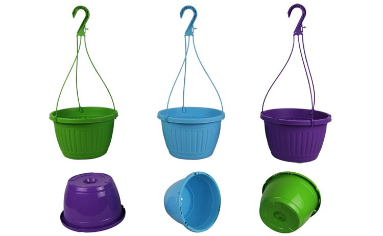 """our 10"""" fluted hanging baskets"""