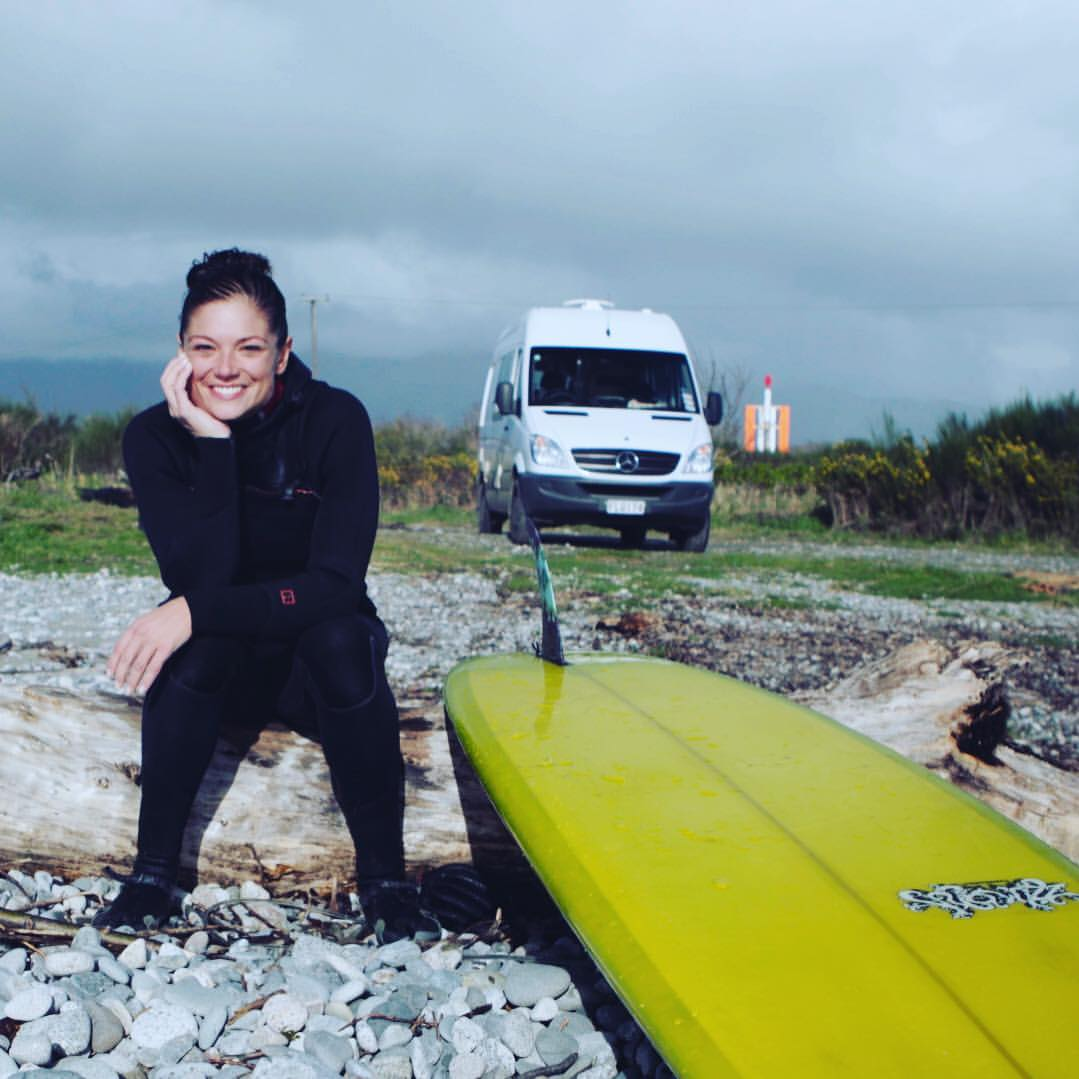 a woman's guide to the world -surfing the south island of new zealand