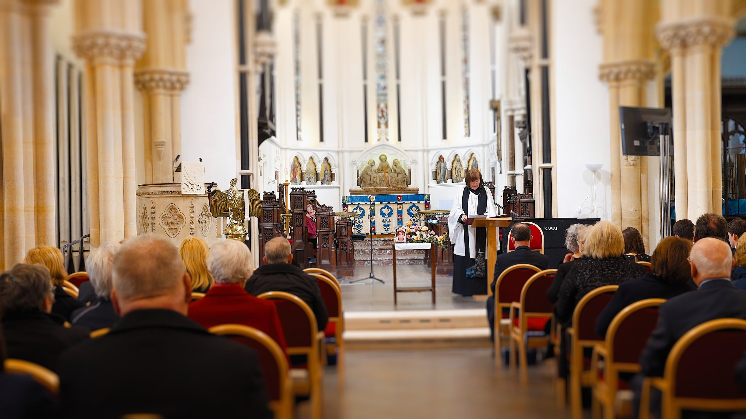 9th April 2018 - St Mary's Stoke Bishop, Bristol Funeral Videography - (Film Still)