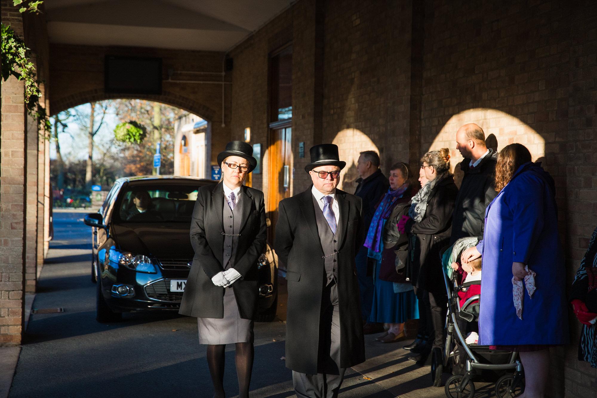 Shaun Foulds UK Funeral Photographer attending Peterborough Crematorium to photograph a Memorial Service.