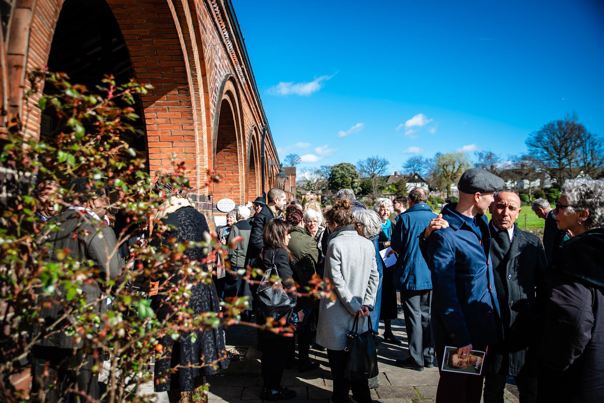 Funeral Photographer at Golders Green Crematorium in London
