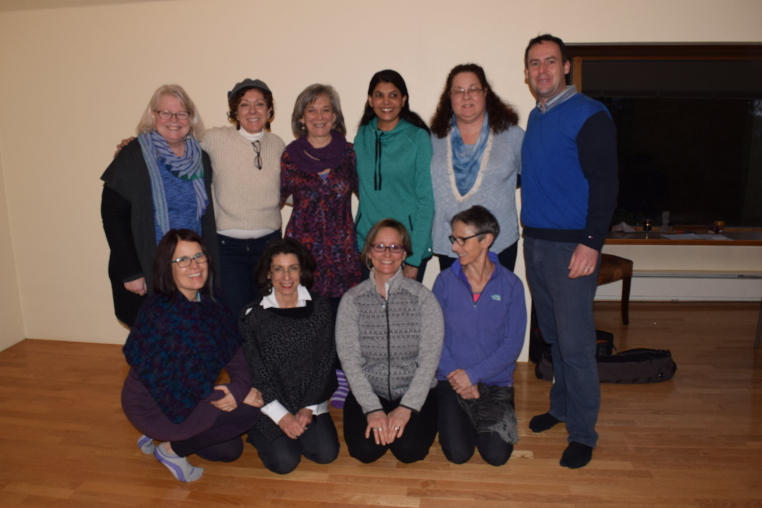 Patrick McKeown and the graduates of the 2017 Buteyko Certificate program at Essential Yoga Therapy's Fall City studio.