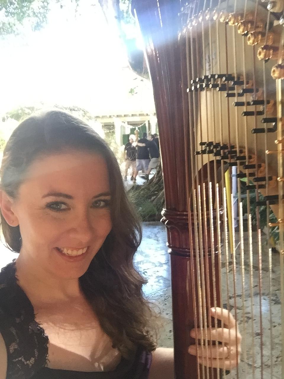 Kristina Finch, harpist