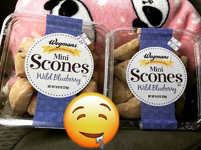 Best lesson day ever when your favorite student brings you your favorite #snack from #wegmans in #Rochester ❤️🥰 #luckyteacher #scones #fatkid