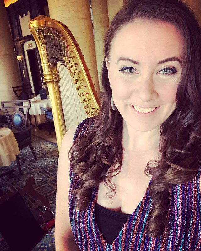 #sparkles just felt right today ❤️✨ #live harp at the @biltmorehotel for #afternoontea 2-5 live-streaming on Facebook #livemusic #miamimusic