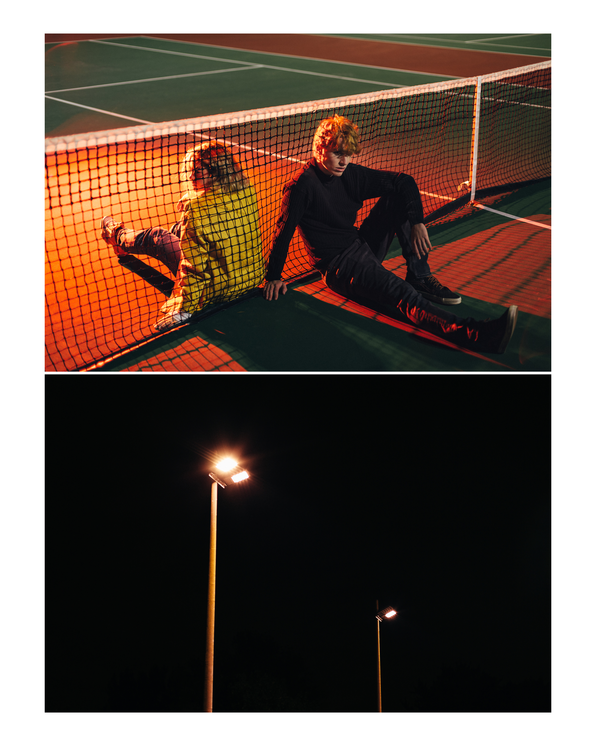 tennis court    Baby be the class clown I'll be the beauty queen in tears It's a new art form showing people how little we care We're so happy, even when we're smiling out of fear Let's go down to the tennis court, and talk it up like yeah