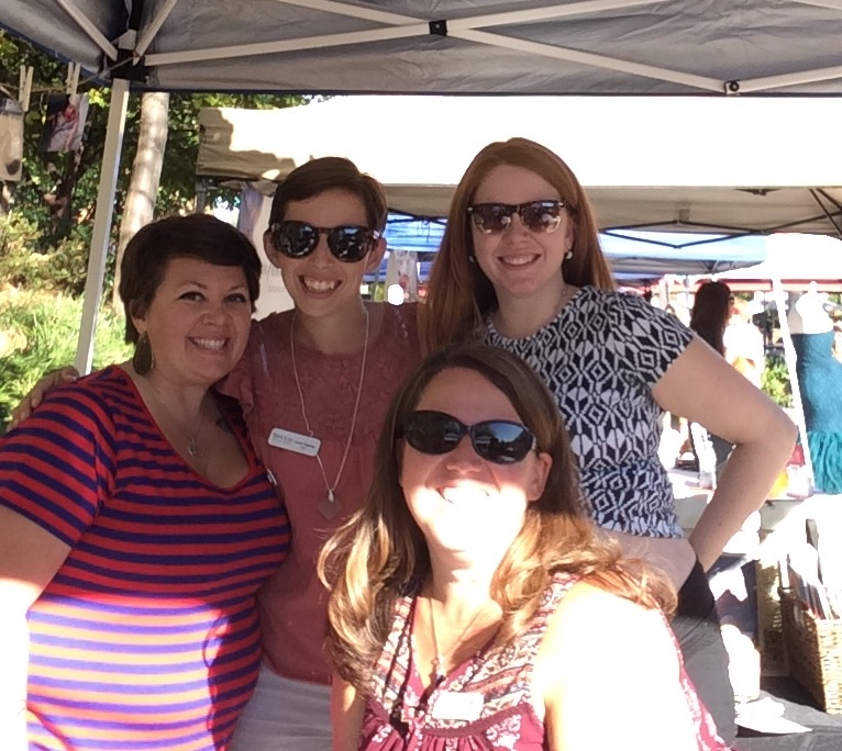 Kim, Jess, Camille and Debbie at the 2017 Birth and Babies Fair