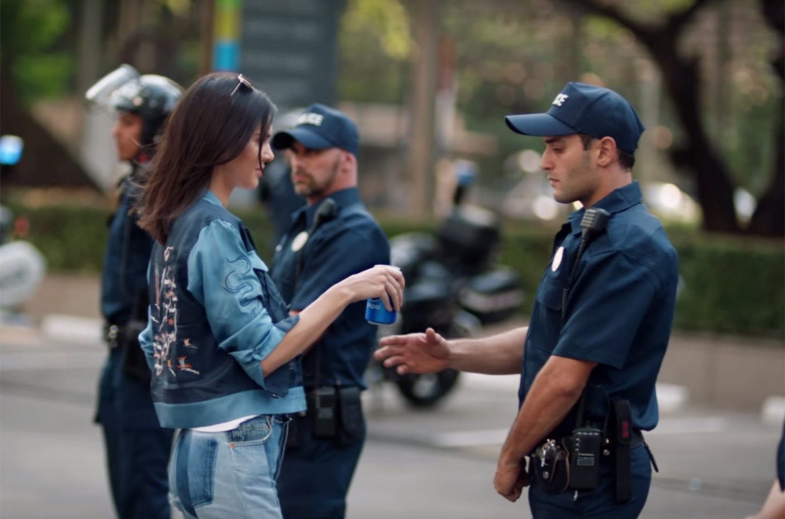 Pepsi Commercial Ft. Kendall Jenner (2017) - Link to Full Advertisement: https://youtu.be/PJ3eMnU4G1M