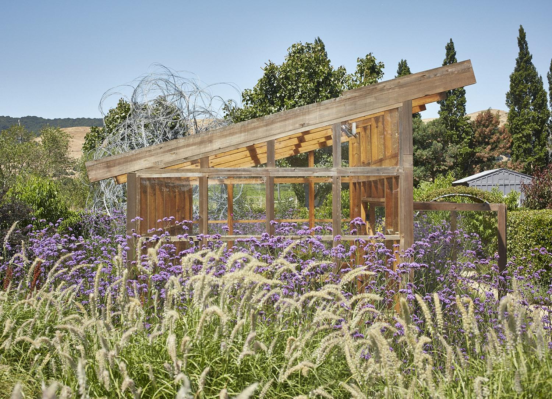 Sunset Magazine Test Garden Greenhouse