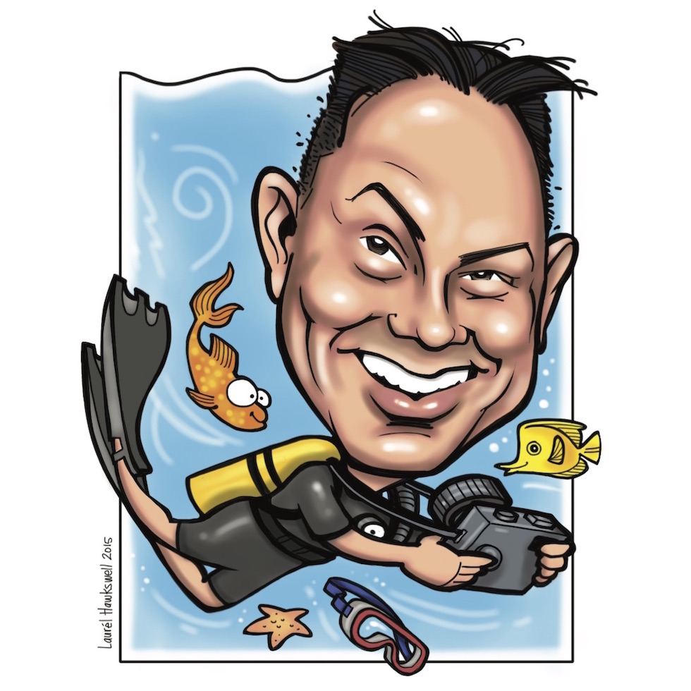 Dr. Mark   Pediatric dentist & scuba diving selfie-addict