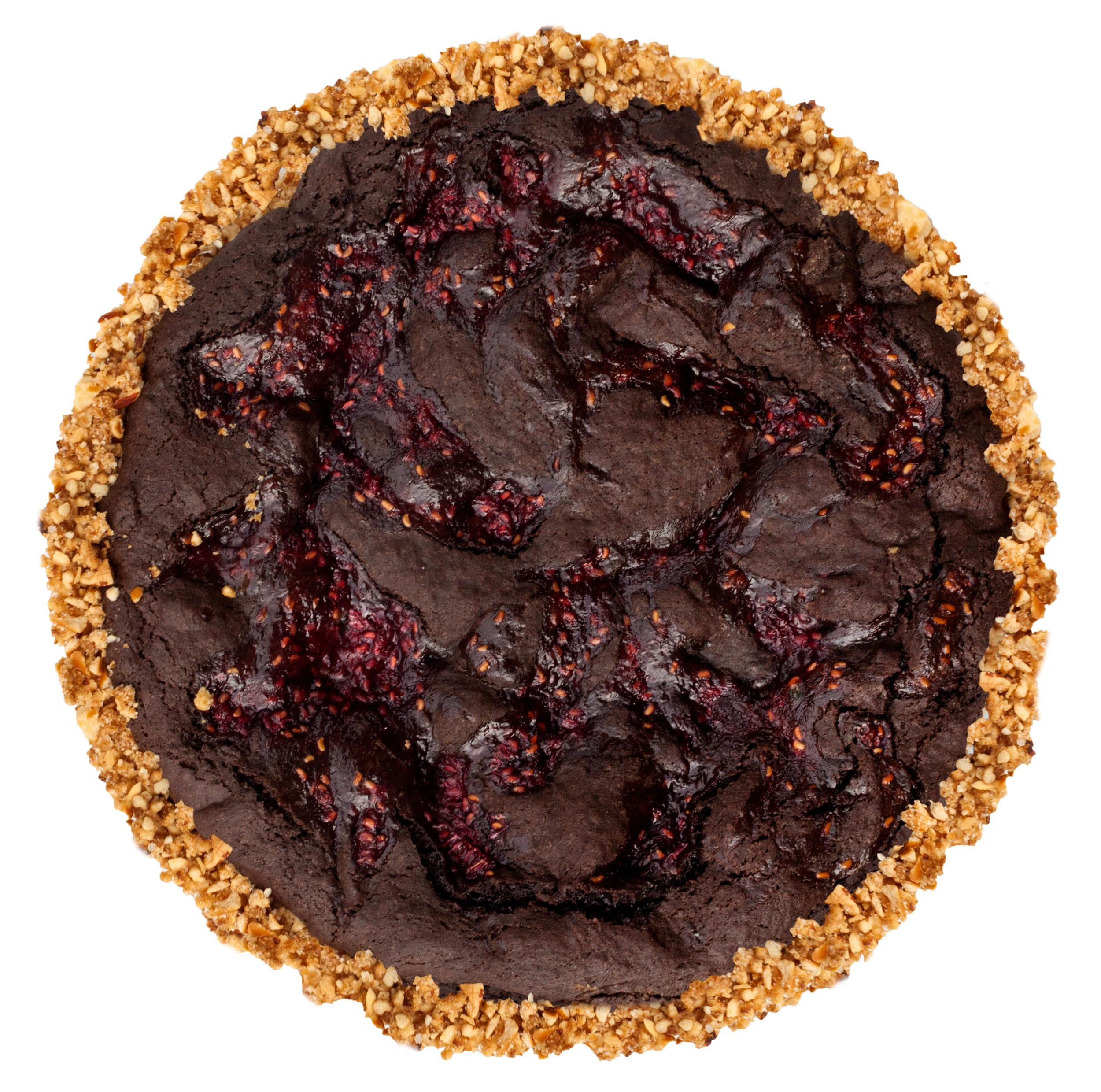 gluten free classic brownie pie pretzel almond crust