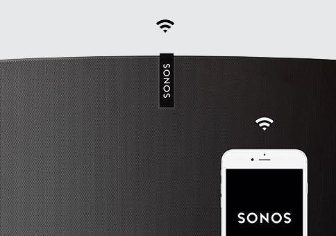 Wireless - WiFi, not Bluetooth.It matters. Especially when the phone rings or the person with the music has to leave. With Sonos, the songs stream from your WiFi network (not your phone), so there's never any of the dropouts, delays or interruptions associated with Bluetooth.