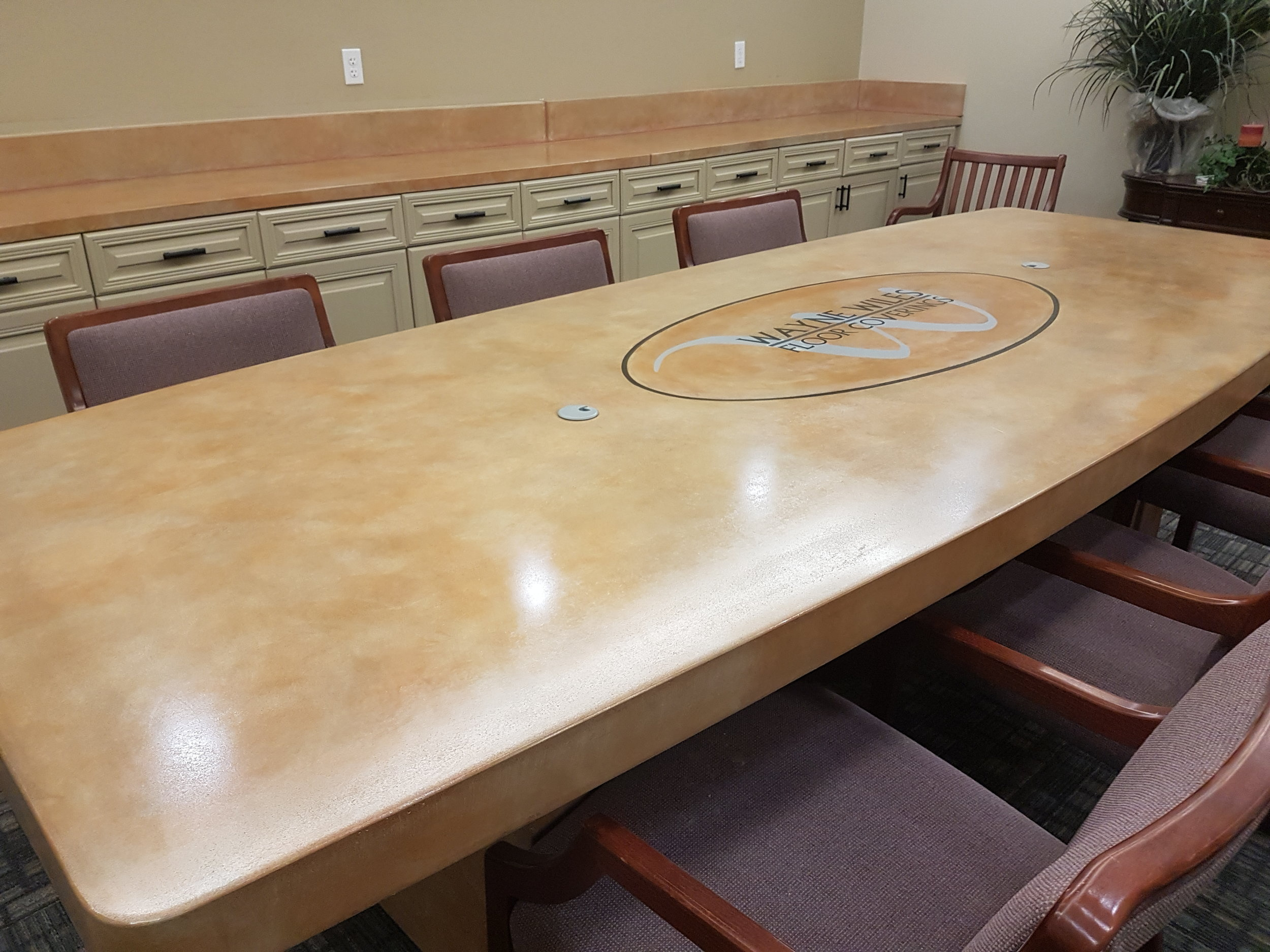 Stained Concrete Table