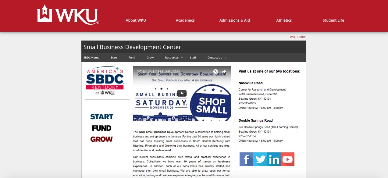 Western Kentucky University Small Business Development Center