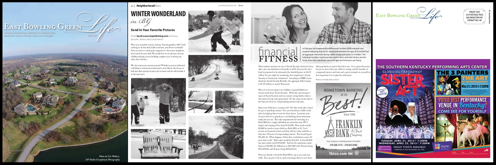 East Bowling Green Life: April Issue (Layout, Content, and Graphics)