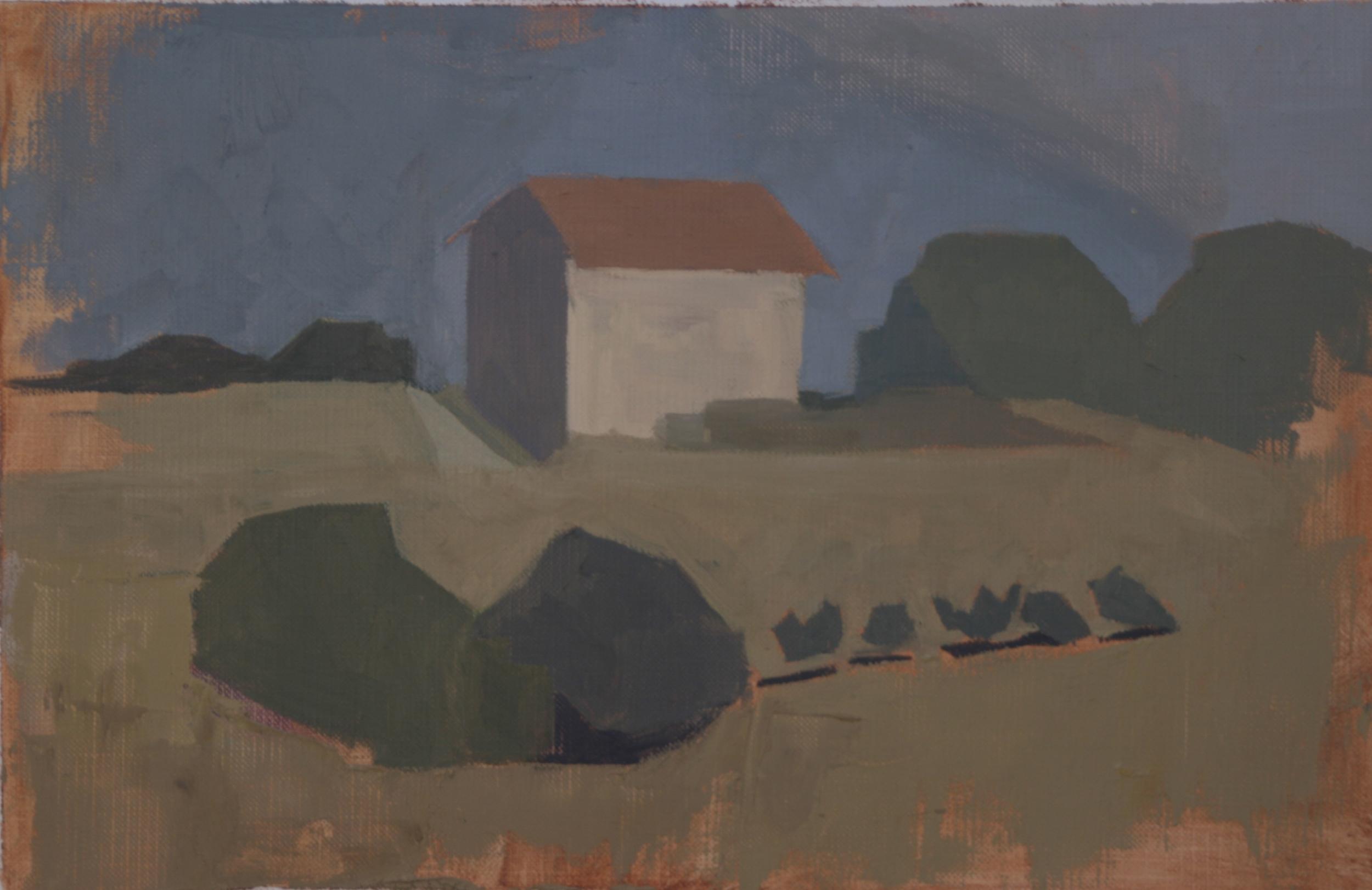 Sketch: Farmhouse at a distance