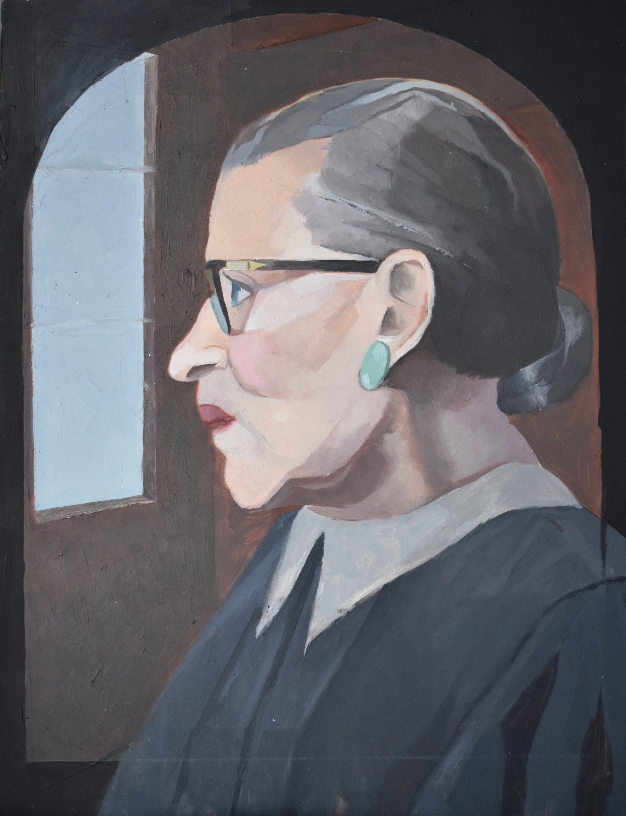 - Notorious: A Tribute to Ruth Bader Ginsburg2017Oil and marble dust on panel12 in. X 9 in.private pollection