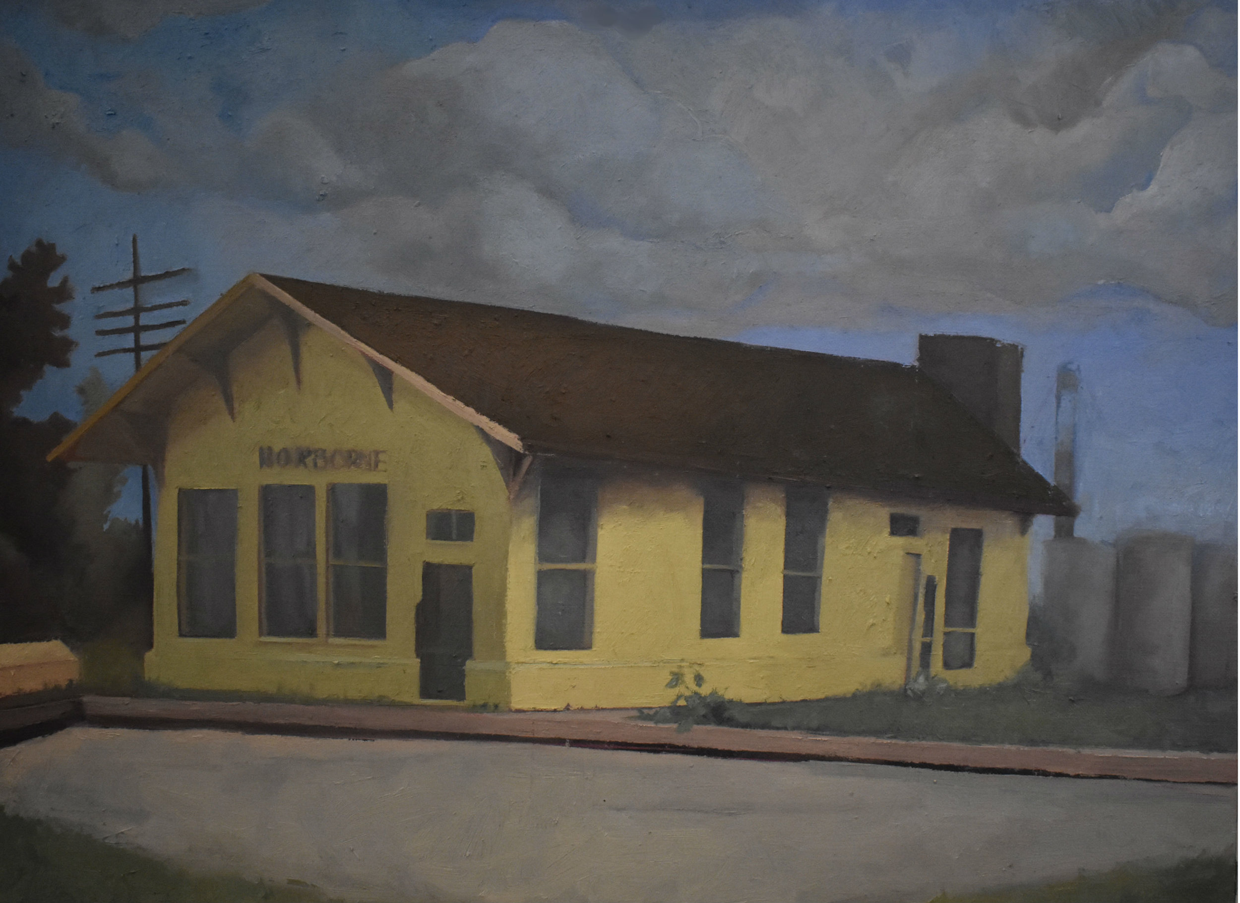 - The Old Norborne Depot2018Oil and marble dust on linen18 in. X 24 in.private collection