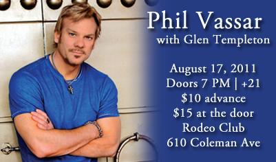 Phil Vassar at Rodeo Club