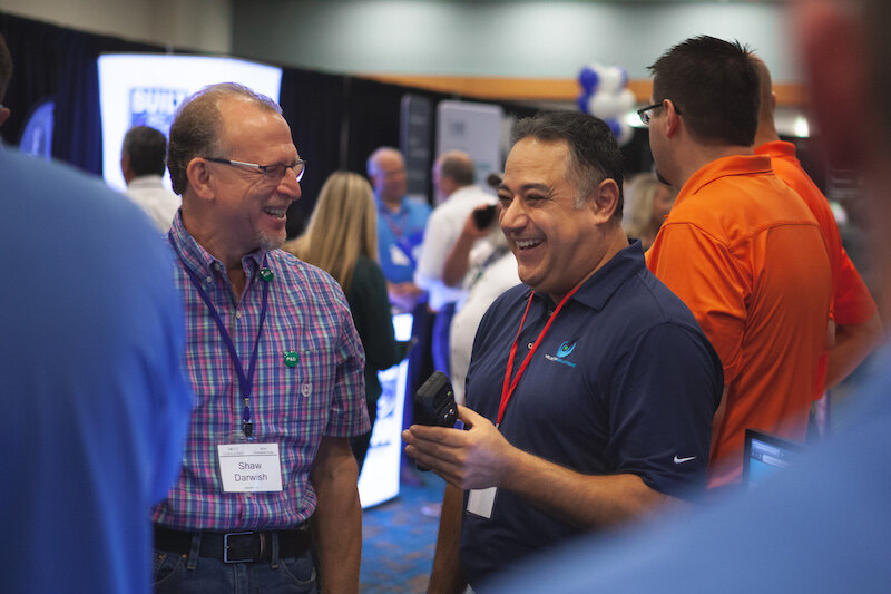Contractors and Sponsors mingle in the Expo Display Hall.jpg