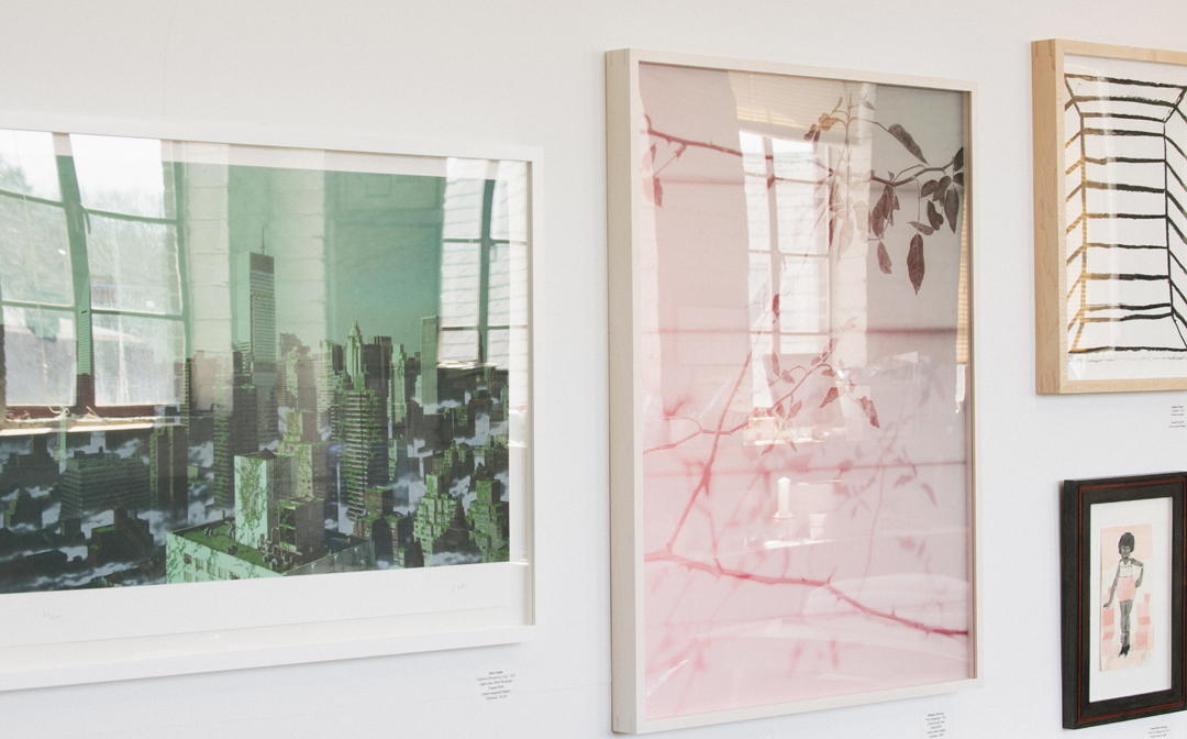 A display of works in our studio available through our partners   Adjective Art & Framing
