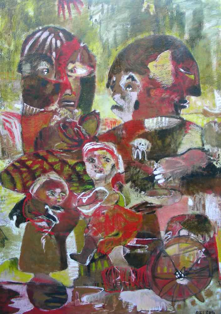 Ulvetimen, oil on canvas, 180x130cm
